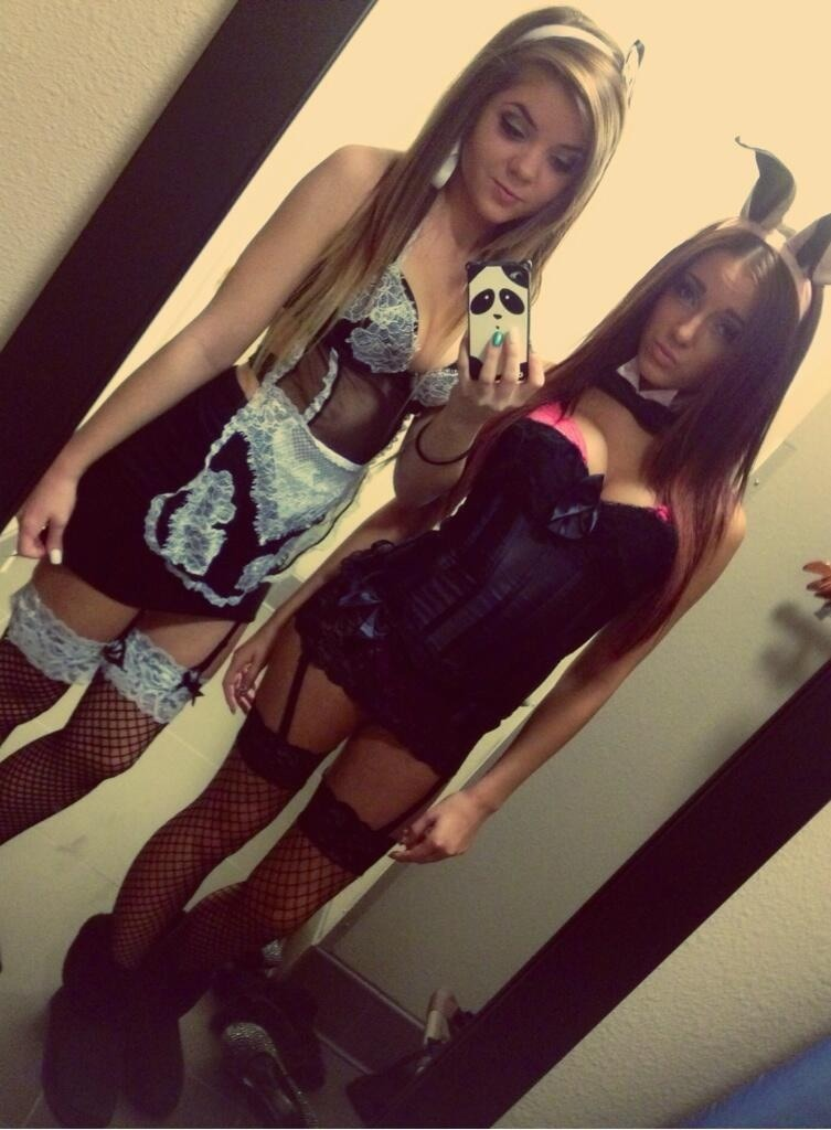 Shemale Iwantherbra Bunnyears Selfie Blackpantyhose Sexystomach Sexystockings