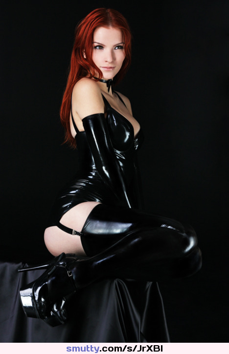 Dangerouslysexy ...... Gorgeous Latex Red Beautiful Lovely Brunette Sexy Heels Seductive Sultry  Beauty ..... Tele