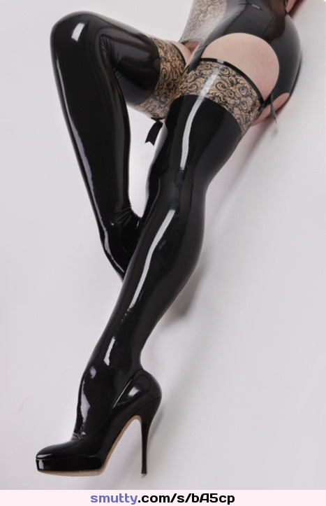 blonde beauty takes big black cock Slick Boots. #latex #boots #stockings #garters #fetish